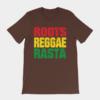 Roots Reggae Rasta Cracked Brown